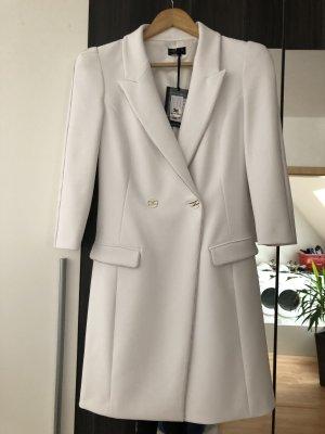 Elisabetta Franchi Gabardina tipo vestido blanco