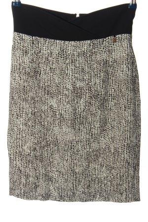 Elisabetta Franchi Midirock weiß-schwarz abstraktes Muster Casual-Look