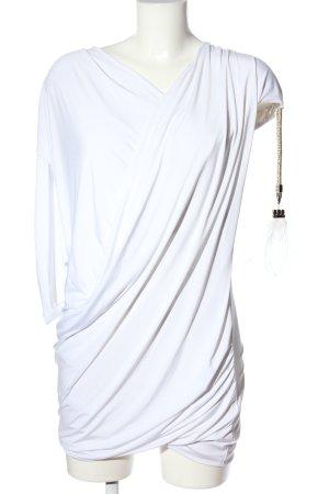 Elisabetta Franchi Minikleid weiß extravaganter Stil