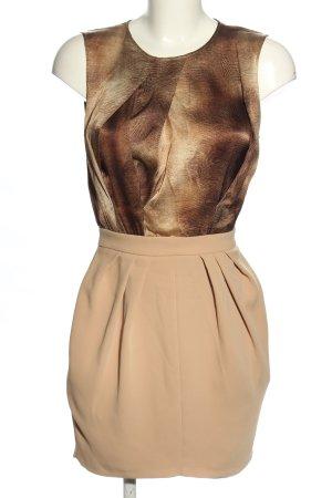 Elisabetta Franchi Minikleid braun-creme abstraktes Muster Elegant