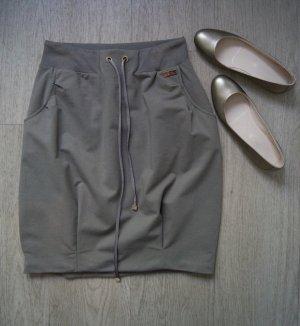 Elisabetta Franchi Spódnica w kształcie tulipana szaro-brązowy-zielono-szary