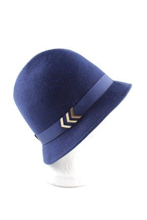 Elisabetta Franchi Chapeau en laine bleu style décontracté