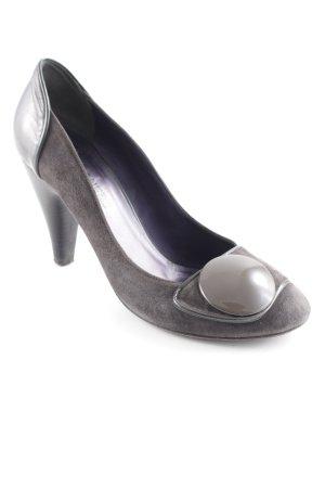 Elisanero High Heels dunkelgrau-graubraun Casual-Look