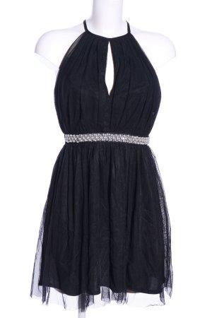Elise Ryan Chiffonkleid schwarz Elegant