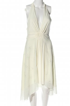 Elise Ryan Sukienka z dekoltem typu halter w kolorze białej wełny Elegancki
