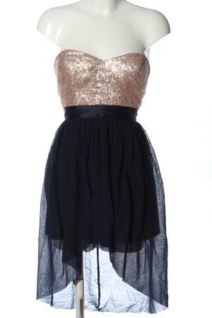 Elise Ryan Vokuhila-Kleid creme-blau Elegant