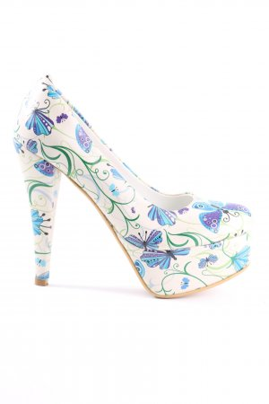 High Heels Allover-Druck extravaganter Stil