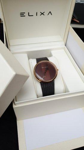 ELIXA Reloj con pulsera metálica multicolor