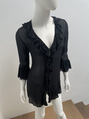 Elizabeth Hurley Beach-Bluse/Tunika-Gr. S-Beachwear-schwarz-neuw.-