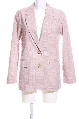 Elka Collective Long-Blazer pink-creme Karomuster Casual-Look