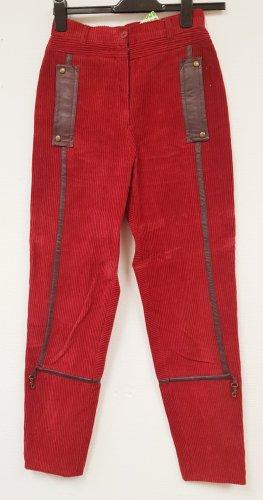 Elkont Pantalon taille haute rouge foncé-rouge carmin