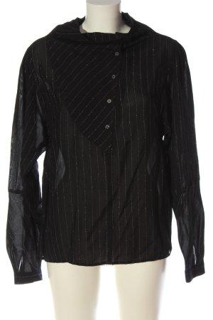 Elkont Camicetta a maniche lunghe nero motivo a righe stile casual
