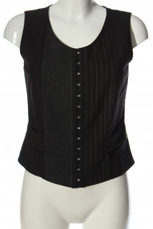 Ella Waistcoat black striped pattern business style