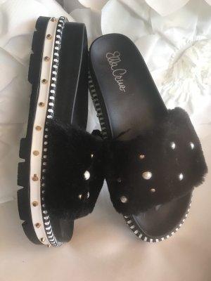 Ella Cruz Pantoufles noir