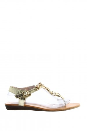 Ella Cruz Dianette sandalen goud casual uitstraling
