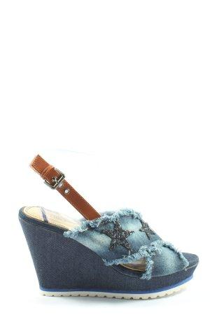 Ella Cruz Espadryle niebieski-brązowy Na całej powierzchni W stylu casual
