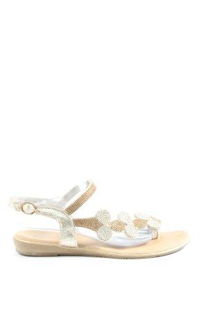 Ella Cruz Flip Flop Sandalen silberfarben-goldfarben extravaganter Stil