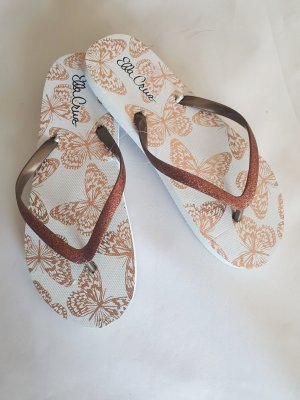 Ella Cruz Flip-Flop Sandals brown