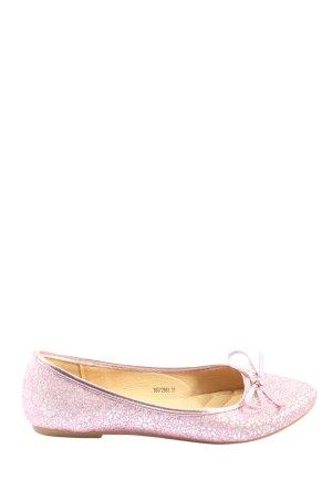 Ella Cruz Klassische Ballerinas pink-silberfarben Allover-Druck Casual-Look