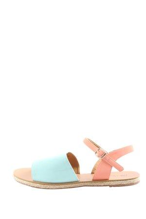 Ella Cruz Komfort-Sandalen pink-blau Casual-Look