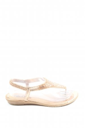 Ella Cruz Toe-Post sandals cream elegant