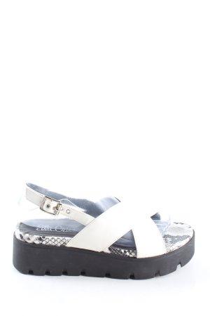 Ella Cruz Platform Sandals white-black animal pattern casual look