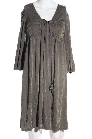 Ella Moss Jerseykleid braun-goldfarben extravaganter Stil
