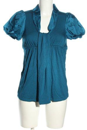 Ella Moss Short Sleeved Blouse blue elegant