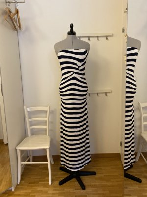 Ella Moss Maxi Dress natural white-dark blue