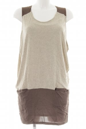 Ella Moss Mini Dress cream-brown street-fashion look