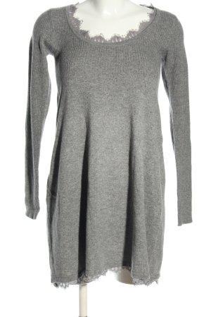 Ella Moss Robe pull gris clair moucheté style décontracté