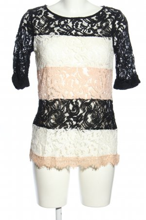Ella Moss Lace Blouse striped pattern casual look