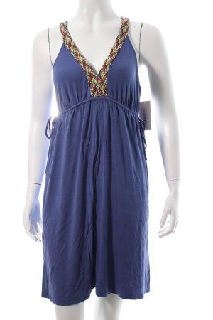 Ella Moss Sweat Dress blue violet Embroidered ornaments