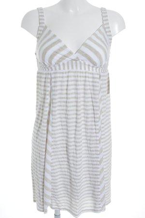 Ella Moss Trägerkleid beige-weiß Streifenmuster Casual-Look
