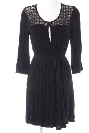 Ella Moss Wickelkleid schwarz klassischer Stil