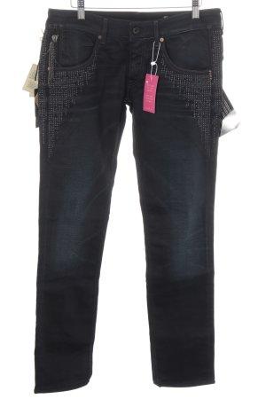 Ella Straight-Leg Jeans schwarz-dunkelblau Casual-Look