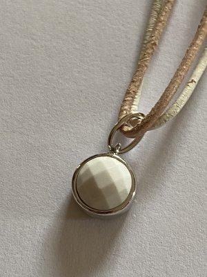 ELLE Anhänger in Silber mit weißem Achat
