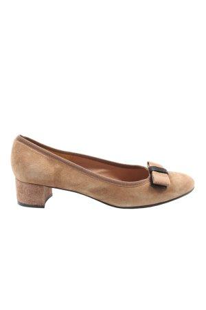 Elle Chaussure à talons carrés brun-noir style décontracté