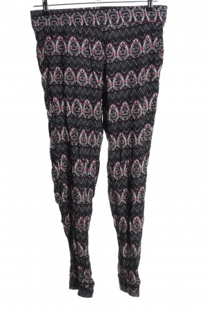 Elle Noir Harem Pants abstract pattern casual look