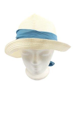 elle nor Straw Hat cream-blue casual look