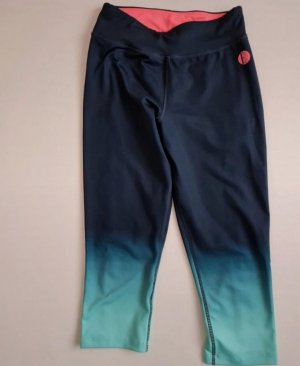 Elle Sport Legginsy ciemnoniebieski-turkusowy