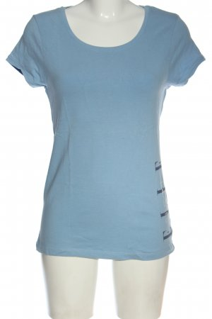 Elle Sport Sports Shirt blue printed lettering casual look