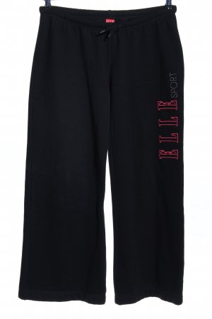Sweat Pants black printed lettering athletic style