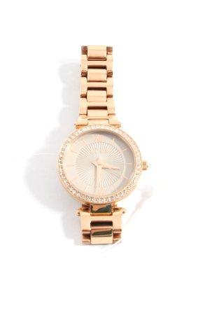 Elle Horloge met metalen riempje goud casual uitstraling