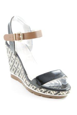 Elle Wedges Sandaletten mehrfarbig Casual-Look