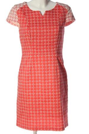 Ellen Eisemann Kurzarmkleid pink-weiß Casual-Look