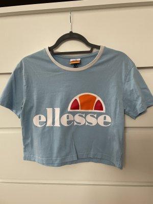 Ellesse Camicia cropped azzurro-bianco