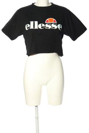 Ellesse Cropped Shirt Schriftzug gedruckt Casual-Look