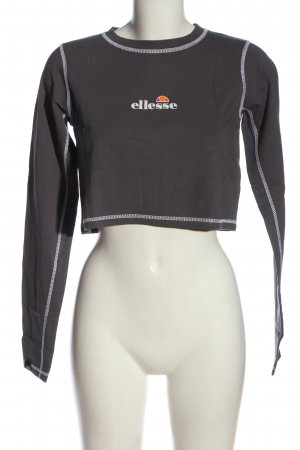 Ellesse Cropped Shirt hellgrau-weiß Motivdruck Casual-Look