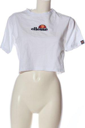 Ellesse Cropped Shirt weiß Motivdruck Casual-Look